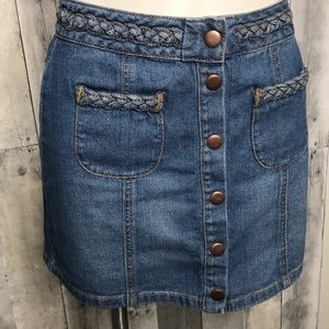 Kendall + Kylie Denim Mini Skirt Sz 26